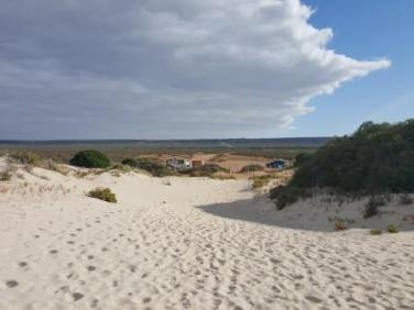 Back down the sand dunes to the car from the Old Telegraph Station