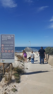Arno Bay SA - see a jetty, gotta walk it!