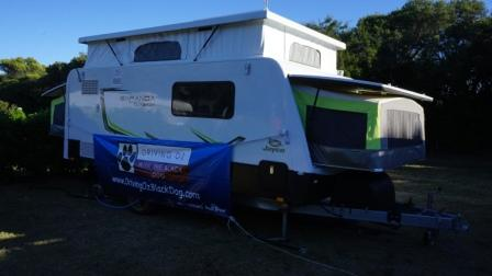 Banner on the Jayco at Warrnambool
