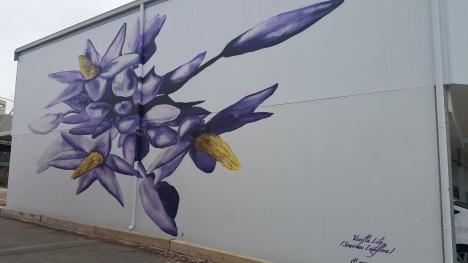 """Denmark """"Vanilla Lily"""" mural"""