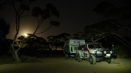 Moonlit night on the Nullarbor