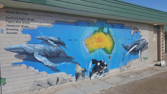 mural at the Nullarbor Roadhouse