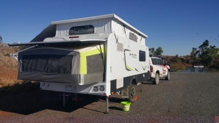 Free camp at the Robe River rest area