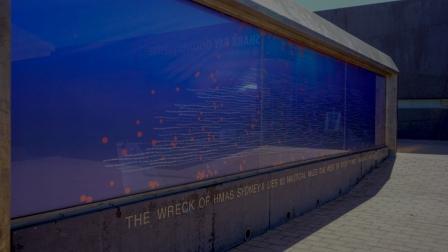 HMAS Sydney II Memorial - names of those lost at sea