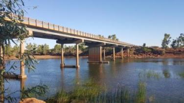 Highway bridge over the Robe River