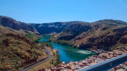 Beautiful gorges below the dam wall